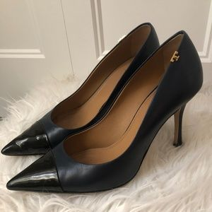 Tory Burch Navy & Black Pumps